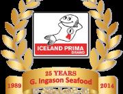 G. Ingason Seafood 25 Years old